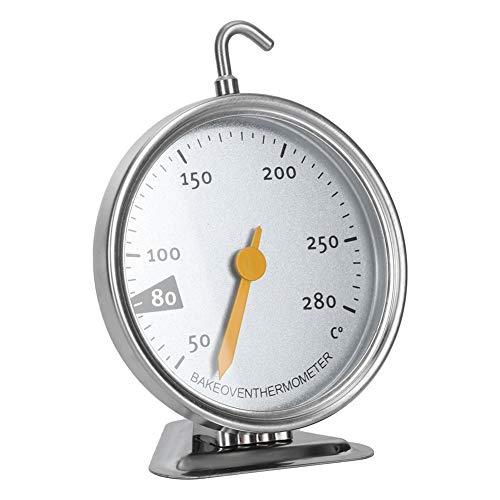 Backofen-Thermometer, Edelstahl-Zifferblatt-Thermometer, Instant Read, Küchen-Kochthermometer für Elektroherd und Gasherd, mit Drehhaken