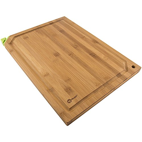 Zenware 3 Piece Triple-Ply Warp Resistant All Natural Bamboo Cutting...
