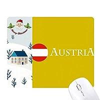オーストリアの旗ウィーン サンタクロース家屋ゴムのマウスパッド
