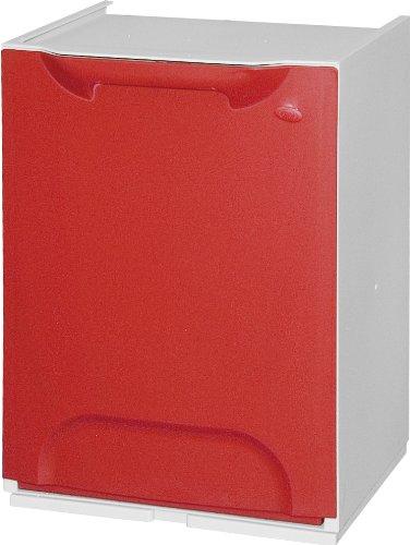 Art plast Cassonetto per raccolta differenziata, modulare, in plastica, rosso