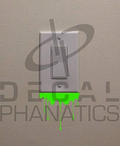 H421ld Interruptor de luz verde (7,6 x 7,6 cm), para dormitorio, decoración del hogar