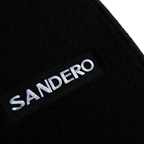 Car Lux AR13078 - Alfombrillas Alfombras a Medida en Velour para Dacia Sandero Stepway Desde 2008-