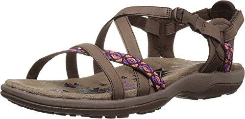 Skechers Women's Regga Slim Keep Close Gladiator Sandal,chocolate,8 M US