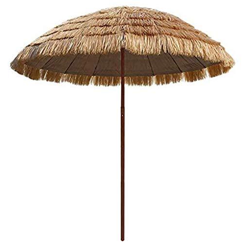 WenFei shop Parasol De Jardin Rond De 200 Cm / 6,5 Pieds, Parapluie De Paille De Raphia Parasol De Chaume Hula De Style Hawaïen, Adapté Au Restaurant, Auberge De Jeunesse, Parc, Plage