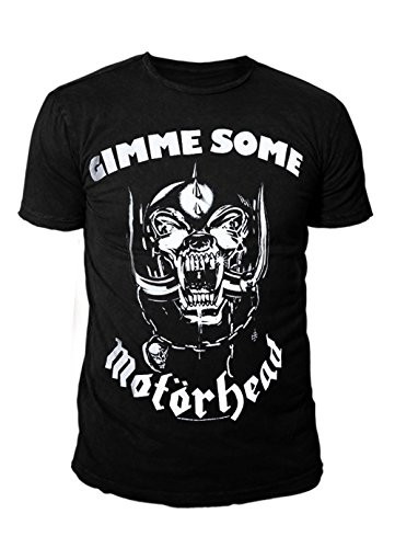 Motörhead Rock Icon heren T-shirt - Gimme Warpig Logo (zwart) (S-XL)