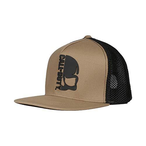 Call of Duty Schädel-Logo Herren Snapback Cap | Official Merchandise | PS5 PS4 COD Black Ops Cold War Gamer Männer Hut, Herren Kleidung, Spiele-Fan-Geburtstags-Geschenk-Idee