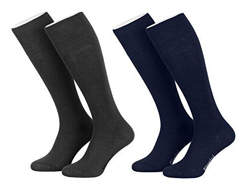 Piarini - 4 paia di calze lunghe da donna - blu oltremare-antracite - 35-38