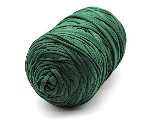 Trapillo Boguar Colores lisos 1kg - 100 metros aproximado de tela cortada (Verde oscuro)
