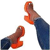 Xudanell Womens Sandals Open Toe Clear Heels Ankle Strap Casual Slip On Chunky Block Heel Wedges Sandalias De Mujer De Verano