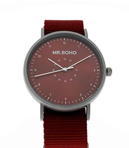 Reloj mr. boho 62-ip11 iron burgundy casual metallic