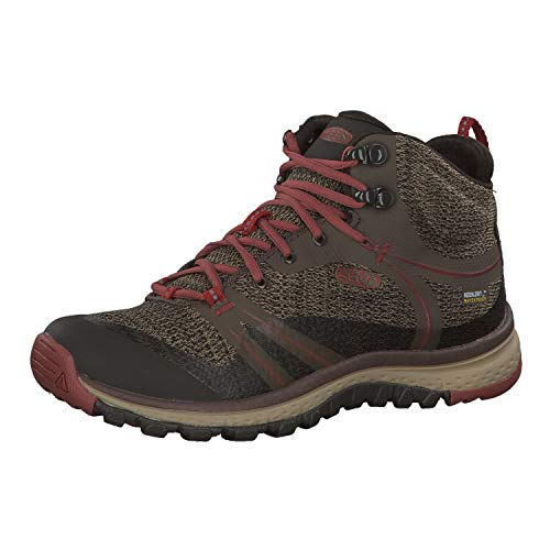 KEEN Women's Terradora mid wp-w Hiking Shoe, Canteen/Marsala, 8 M US