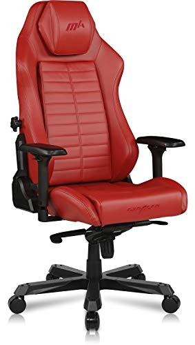 DXRacer Master Module Gaming Chair Office Executive Computer Seat with Sliding Headrest Integrated Adjustable Lumbar Support, 4D Metal Armrest, Replaceable Removable Cushion & Backrest, Standard, Red