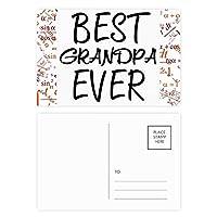 おじいちゃんは、これまでに最高の引用 公式ポストカードセットサンクスカード郵送側20個
