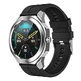 l b s R68 - Reloj deportivo para hombre, monitor de sueño de frecuencia cardíaca, pantalla completa, IP68, resistente al agua, para Android IOS (A)