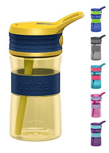 boddels Trinkflasche EEN 400ml - Deine Kindertrinkflasche für jeden Schultag (Nachtblau/Gelb)
