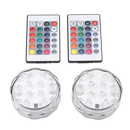 DEWIN Poollampe - Schwimmbadlampe LED Mehrfarbige wasserdichte Lampe mit Fernbedienung für Party Bar Karaoke