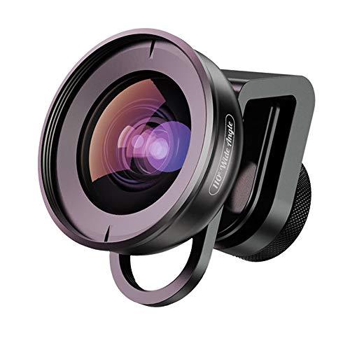 Apexel - Obiettivo per fotocamera con clip HD a 110 gradi, per iPhone X 8 8plus 7 Plus, Samsung Galaxy S8 S8 Plus, Huawei, HTC, iPad e la maggior parte degli smartphone