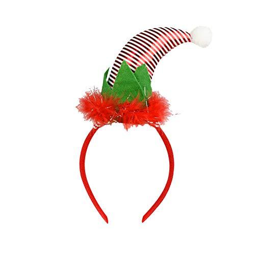 Diadema De,Navidad Rojo Curvado Sombrero Decoración Banda De Pelo Lindos Elfos Orejas Aro Para Niños Adultos Diadema Navidad Fiesta Decoración De La Parte Decor De Los Accesorios Del Pelo Tema Fes