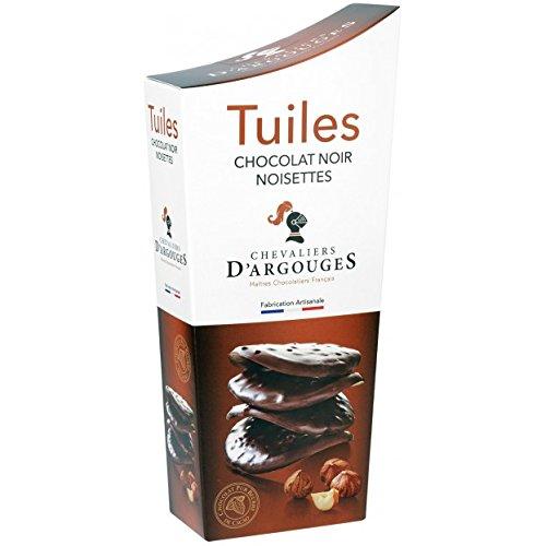 CHEVALIERS D'ARGOUGES Maîtres Chocolatiers Français Tuiles Chocolat Noir Noisettes Étui Dégustation 130 g