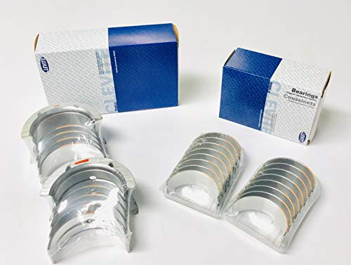 Clevite Cam Bearings /& Elgin Brass Freeze Plug Set compatible with Ford sb 35d sb 351W 302 289 260 255 221