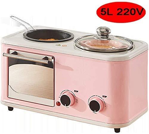 Wghz Smart Oven Mini, elektrischer Mini-Ofen mit Kochplatte, Haushalts-Backkuchenofen, automatischer 40-l-Haushalts-Mini-Ofen, LED-Anzeige, Doppeltemperaturfühler, Temperatureinstellung für Stufe