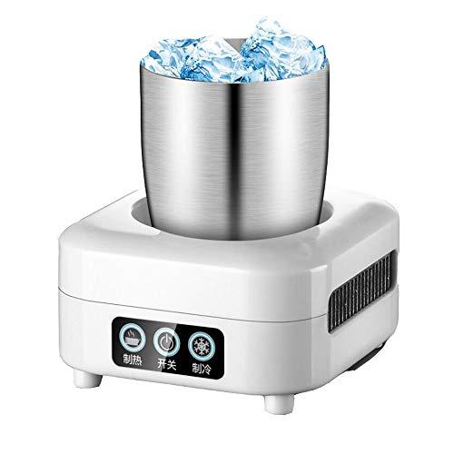 JISHIYU -Q - Refrigerador portátil para refrigeración de coche, taza de café 2 en 1, calefacción y refrigeración para bebidas para agua, leche, cerveza, cacao