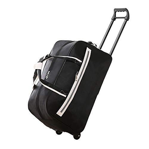 A-Lnice Bolsa de Lona de Gran Capacidad Bolsa de Viaje Masculino Portátil Corta Distancia Bolsa de Viaje Bolsa de Viaje Bolsa de Viaje para Estudiantes Estuche (55cm * 34cm * 26cm) (Color : Negro)