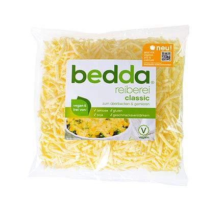 bedda REIBEREI, 1000g | Reibekäse-Ersatz 1kg | Käseersatz | Käsealternative | Pizzakäse-Ersatz | VEGAN