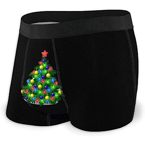 NA Männer Breathable Unterwäsche-Skizze mit nettem Weihnachtsbaum-bequemem Boxer-Schriftsatz