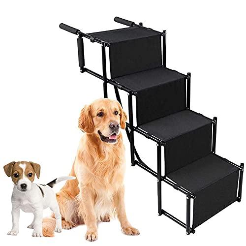 QJXX Rampa De Coche para Perros Escalera Ligera De 5 Pasos con Marco De Metal Plegable Inferior Antideslizante Escaleras para Mascotas para Coches, SUV Y Cama Alta