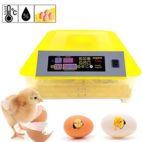Inkubator 48 Eier Groß Brutmaschine Vollautomatische Geflügel Brüter Brutzubehör mit Temperatur Luftfeuchtigkeit Anzeige Automatische Wendung Inkubator Brutapparat für Hühner Enten Gänse Wachteln