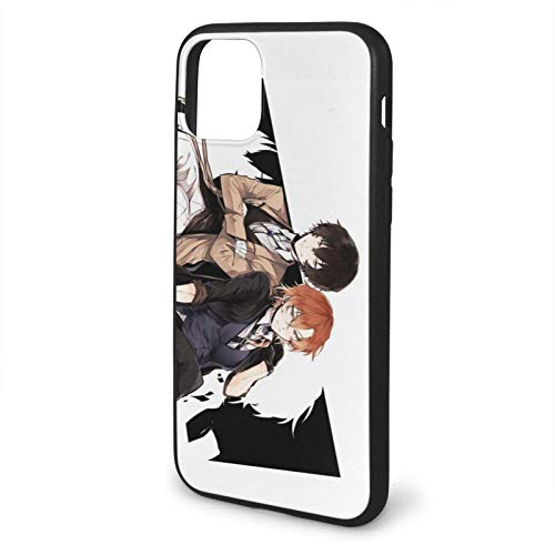 ARTANIME Compatible with iPhone 6 6s 7 Plus 8 Plus X XS XR 11 PRO Max SE 12 PRO Max Case Bungo Stray Dog Shockproof Protection Black Phone Cases Cover