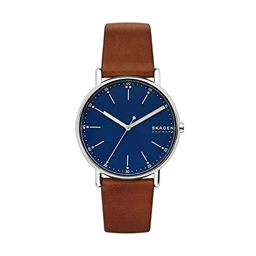 Skagen Men's SKW6355 Signatur Brown Leather Watch