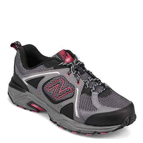 New Balance Men's, MT481v3 Trail Running Shoe Grey RED 11 D