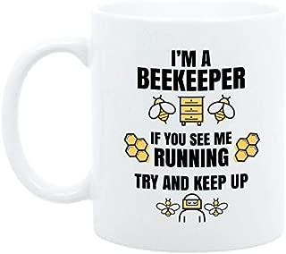 Moonwake Designs - 11oz Beekeeper Coffee Mug, Funny Gift for Beekeeper, I'm A Beekeeper Mug, Honey Bee Coffee Cup, Birthday Gift for Beekeeper, Save The Bees, Bee Gift