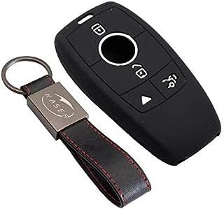 Happyit 2PCS silicone auto chiave guscio cover per Mercedes Benz auto classe B C E S GLK300/E260L CLA CLS ml gLa GLK Glc 3/pulsanti Remote Key Shell