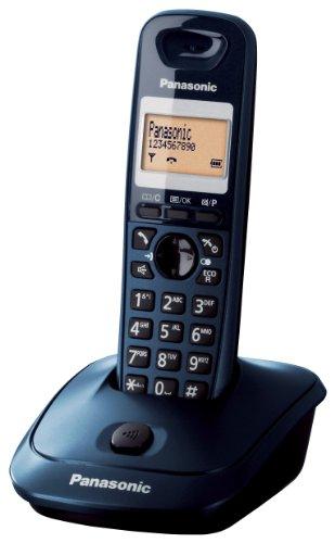 Panasonic KX-TG2511JTC Telefono Cordless DECT Quality Premium, Rubrica da 50 voci, Blu Petrolio