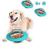 JIASHA Juguetes para Perros, Perro Snack Ball, Alimentador de Comida para Perros, Divertido Juguete de forrajeo para Perros, Bola de golosinas IQ de alimentación Lenta para Mascotas Perros (Azul)