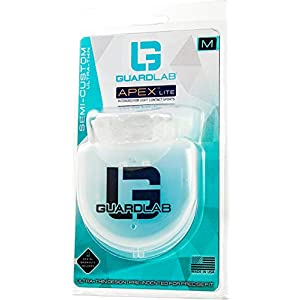 GuardLab Ultra-Thin APEX Lite Mouthguards for Sports (APEX LITE, Medium Clear) | Adult & Youth Mouth Guard | Pre-Indented for a Precise Fit