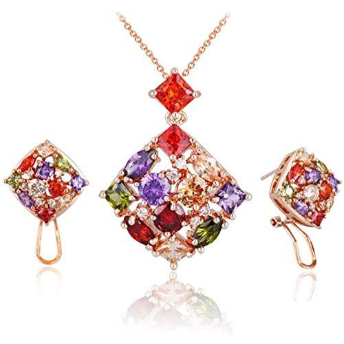 Jewelry Set Necklace Earrings Diamond Heart Shaped Women Jewellery Set Of Crystal Necklace Earrings Set Bridal Jewelry Set