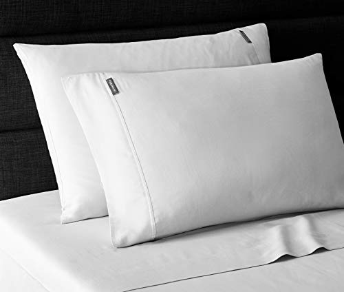 Vera Wang | Repose Wellness Collection | 4-Piece 100% Cotton Sheet Set Bedding, Cool, Crisp, and Lightweight, Machine Washable for Easy Care, King, Grey