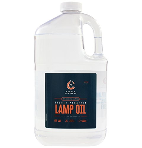 Paraffin Lamp Oil Kosher - 1 Gallon - Clear and Clean Burning - Unscented, Pure, Smokeless Shabbos Lamp Oil Made in USA