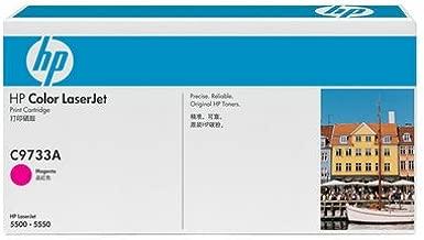 HP C9733A 645A Color LaserJet 5500 550 Toner Cartridge (Magenta) in Retail Packaging