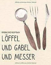Persönliches Rezeptbuch - Löffel und Gabel und Messer: Grosses XXL Rezeptbuch zum selber schreiben von 105 liebsten Rezept...