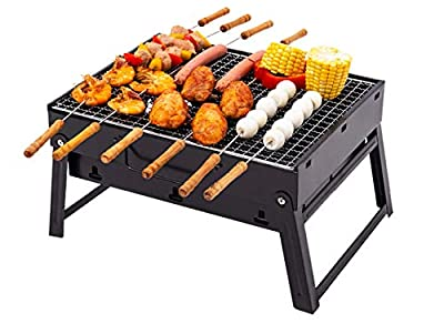Sun Charcoal Grill Barbecue -Portable BBQ - Stainless Steel Folding Grill -Tabletop Outdoor Smoker BBQ- Travel BBQ-for Picnic-Charcoal Grills- Garden -Portable Grill Charcoal-Terrace -Camping -Travel