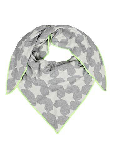 Cashmere Dreams Dreieckstuch mit Kaschmir - Hochwertiger Schal mit Sternen für Damen Jungen und Mädchen - XXL Hals-Tuch und Damenschal - Strick-Waren für Sommer und Winter Zwillingsherz -hgr/gel