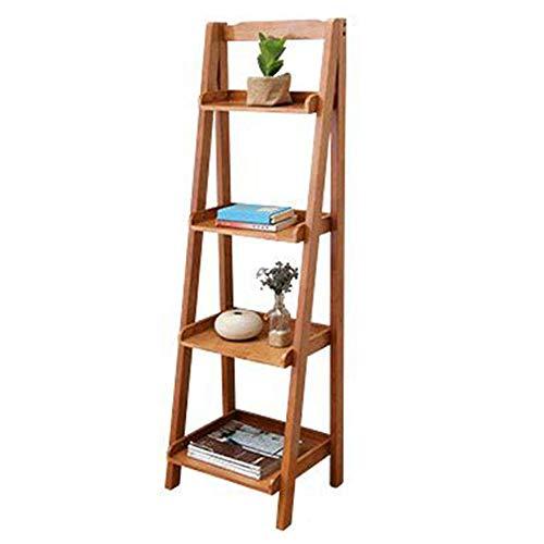 JCNFA Planken Draagbare Ladder Plank Wandplank Vintage Opslag Ladder Plank Ladder Rug Toren Plank,voor Home Office 23.62 * 14.17 * 55.11in Teak Color