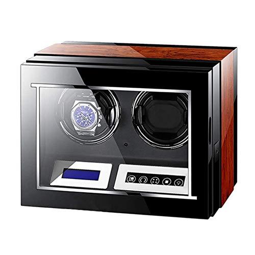 AMAFS Reloj automático Winder Caja de control remoto LCD pantalla táctil luz motor silencioso para hombres mujeres regalo gran capacidad festival