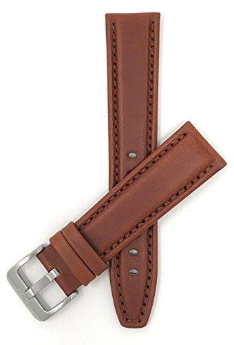 Extra Land (XL) Leder Uhrenarmband 18mm, Braun, sportiv, mit Naht, auch verfügbar in schwarz