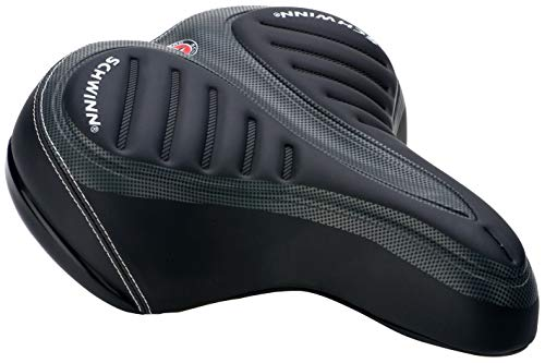 Schwinn Comfort Bike Saddle, Wide Saddle, Gel, Black